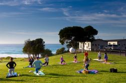 Holiday Yoga at it's finest overlooking the ocean