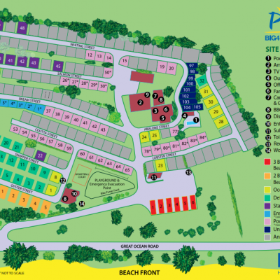 BIG4 Apollo Bay Pisces Holiday Park Park Map August 2019