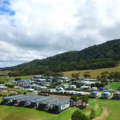 pisces holiday park aerial
